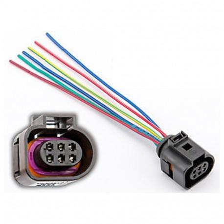 Conector Electrónico Hembra Cerradura 1J0973713 Audi Volkswagen Seat