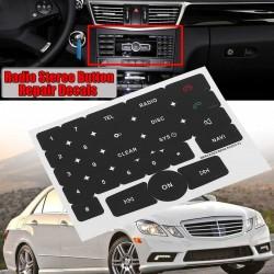 Pegatinas Reparación Desgaste Botones Radio Teléfono Mercedes V2