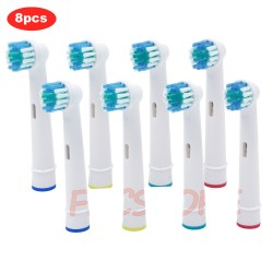 Pack 8 Recambios Cepillo Oral-B Advance Power/Pro Health/Triumph/3D Excel/Vitality