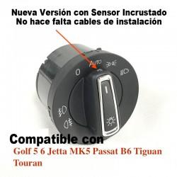 Mando Control Luces con EXTRA LUCES AUTOMATICAS VW Golf 5 6 MK5 MK6 Tiguan Passat B6 B7 CC Touran Jetta MKV