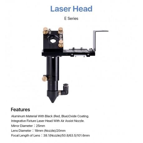 Cabeza Corte Laser Completa CO2 Lente D18mm FL38.1 D20mm FL50.8 & 63.5 & 101.6 mm Espejo 25mm