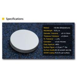 Espejo Recambio Reflejo Corte Laser CO2 25 mm