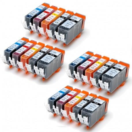 20 X CARTUCHOS TINTA IMPRESORA COMPATIBLE CANON PGI-525 CLI-526 Pixma iP4850 MG5150 5250