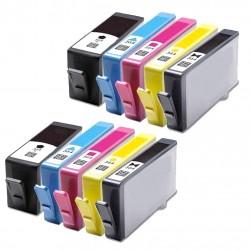 10 X Cartuchos Genericos CON CHIP para Hp impresoras 3070, 3070A, 3520 Hp364 XL