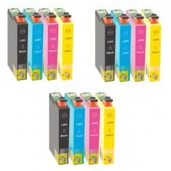 12 X Cartuchos tinta impresora compatible Non Oem Epson T1295 - T1291, T1292, T1293, T1294