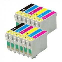12 X Cartuchos de tinta t0807 IMPRESORA Epson Stylus Photo R265 R285 R360 RX560 RX585 RX685 P50